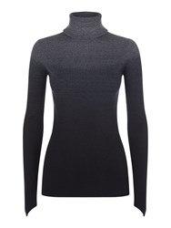 Victorinox Sabine Dip Dye Roll Neck Sweater Charcoal