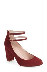 Kate Spade Women's New York 'Baneera' Ankle Strap Pump Red Chestnut