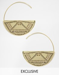 Designsix Statement Hoop Earrings Gold