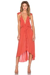 Yfb Clothing Panama Dress Rust