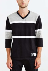 Stussy Team Football Jersey Washed Black