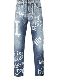 Iceberg Quote Detail Jeans Blue