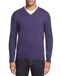 Bloomingdale's The Men's Store At Cashmere V Neck Sweater Blueberry