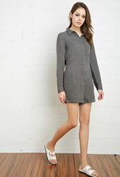 Forever 21 Cotton Utility Romper Grey