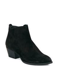 Dolce Vita Slade Pointed Toe Suede Booties Black