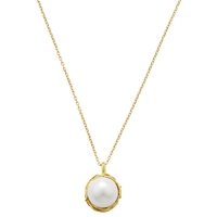 London Road Burlington Willow Single Pearl Pendant Necklace Gold