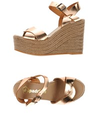 Espadrilles Footwear Sandals Women Copper