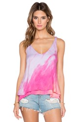 Gypsy 05 V Neck Double Layer Tank Pink