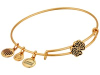 Alex And Ani Four Leaf Clover Slider Expandable Wire Bangle Gold Bracelet