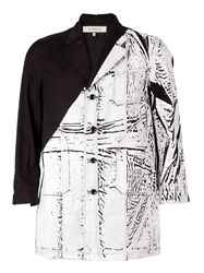 Anrealage Abstract Print Panelled Coat