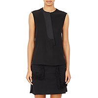 Paco Rabanne Women's Asymmetric Placket Sleeveless Top Black Blue Black Blue
