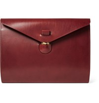 Tarnsjo Garveri Leather Portfolio Burgundy