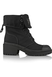 Marc By Marc Jacobs Cotton Canvas Ankle Boots