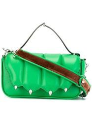 Marco De Vincenzo Flap Closure Crossbody Bag Green