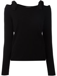 Dorothee Schumacher Lace Up Shoulders Pullover Black