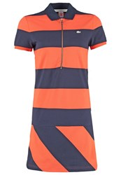 Lacoste Live Summer Dress Navy Blue Mexico Red