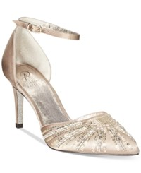 Adrianna Papell Hollis Evening Pumps Women's Shoes Almond