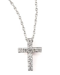 Pave Diamond Cross Necklace Roberto Coin Red