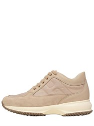 Hogan 60Mm Interactive Suede And Nylon Sneakers