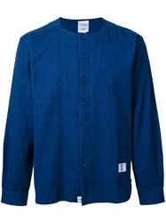 Bedwin And The Heartbreakers Collarless Denim Shirt Blue