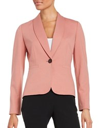 Nipon Boutique One Button Blazer Rose