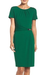 Ellen Tracy Women's Stretch Sheath Dress Emerald