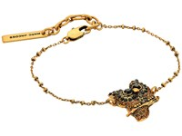 Marc Jacobs Charms Owl Bracelet Jet Multi Antique Gold Bracelet