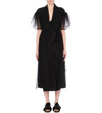 Simone Rocha Puff Sleeve Tulle Dress Black