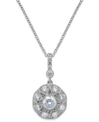 Antique Star By Marchesa Diamond Icon Pendant Necklace In 18K White Gold 1 3 8 Ct. T.W.