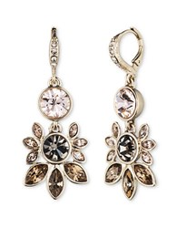 Givenchy Rhinestone Chandelier Earrings Gold