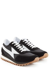 Marc Jacobs Suede And Fabric Sneakers White