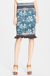 Clover Canyon 'Winter Wallpaper' Stretch Pencil Skirt Multi