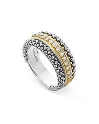 Lagos 18K Gold And Sterling Silver Caviar Band Ring No Color