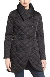 T Tahari Women's Diamond Quilt Jacket Black
