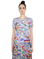 Mary Katrantzou Rainbow Cloud Cotton Jersey T Shirt