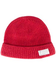 Visvim Ribbed Beanie Red