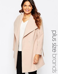 New Look Inspire Belted Wrap Coat Stone