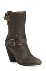 Corso Como Women's 'Somers' Mid Calf Buckle Strap Boot Black Worn Leather