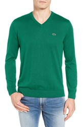 Lacoste Men's Jersey V Neck Sweater Chives