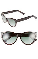 Women's Steven Alan 'Agnes' 55Mm Cat Eye Sunglasses Dark Tortoise