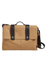 Skagen 'Tranum' Coated Canvas Messenger Bag Khaki