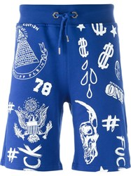 Philipp Plein 'Good Summer' Shorts Blue