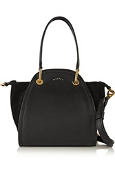 Maiyet Peyton Mini Leather And Suede Shoulder Bag Black
