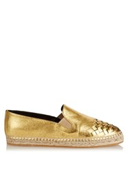 Bottega Veneta Intrecciato Leather Espadrilles
