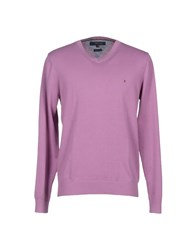 Tommy Hilfiger Knitwear Jumpers Men Pastel Pink