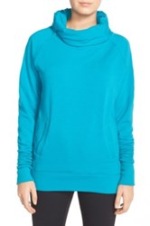 Zella 'Inner Peace' Cotton Blend Pullover Blue