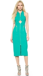Dion Lee Zip Lock Dress Emerald