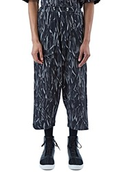 Marius Petrus Graphic Print Track Pants Black