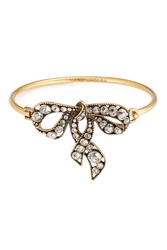 Marc Jacobs Crystal Embellished Bow Bracelet Gold