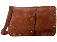 Patricia Nash Washed Leather Mantova Crossbody Rust Cross Body Handbags Red
